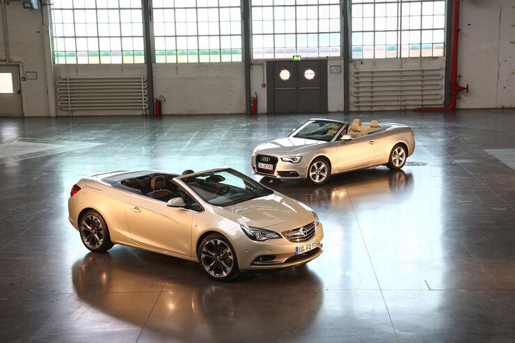 Opel Cascada, Audi A5, Seitenansicht