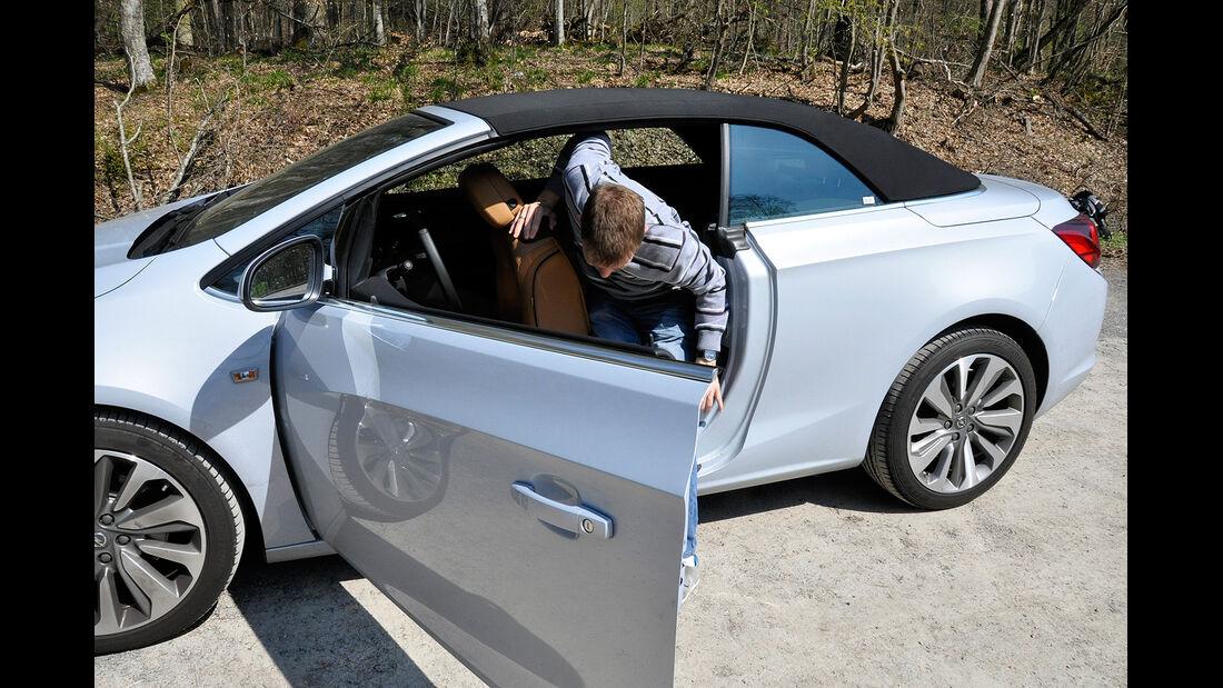 Opel Cascada, Einstieg, Fond