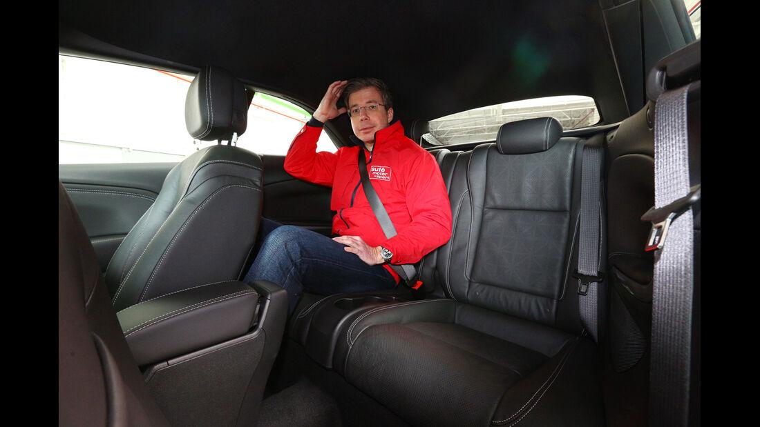 Opel Cascada, Rücksitz, Kopffreiheit