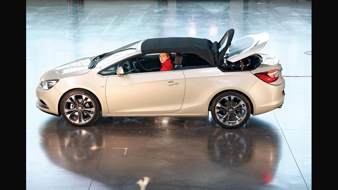 Opel Cascada, Seitenansicht, Verdeck schließt