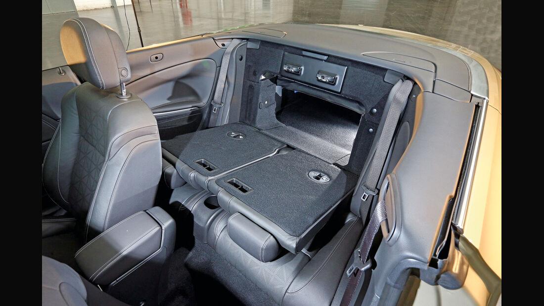 Opel Cascada, Stauraum, Sitz Umklappen