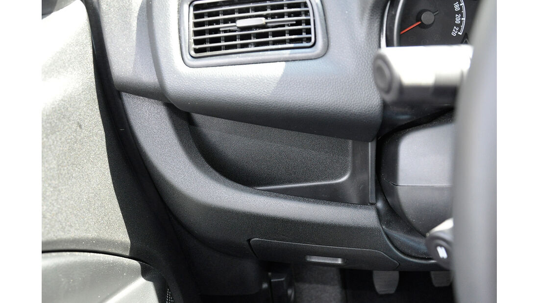 Opel Combo, Ablage