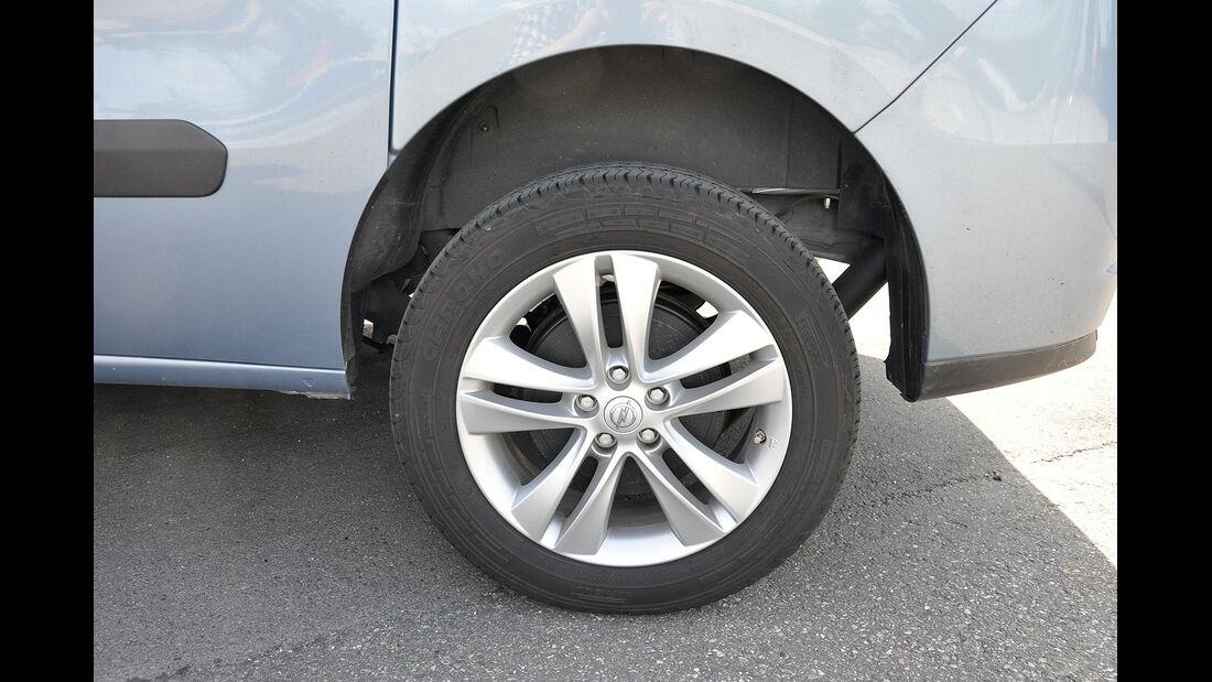 Opel Combo, Hinterachse