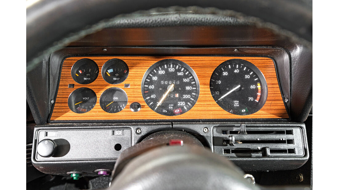 Opel Commodore GS/E, Rundinstrumente