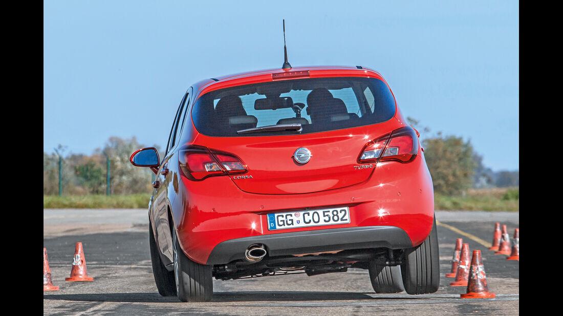Opel Corsa 1.0 Ecotec DI Turbo, Heckansicht