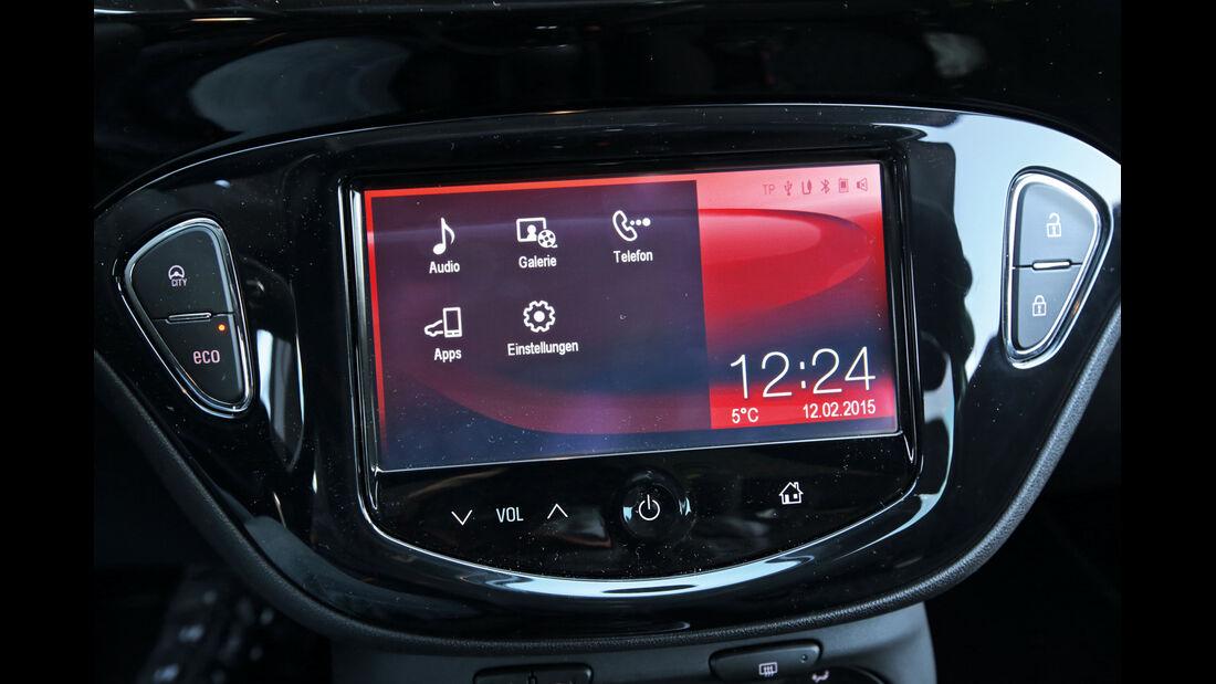 Opel Corsa 1.0 Turbo, Bildschirm, Display