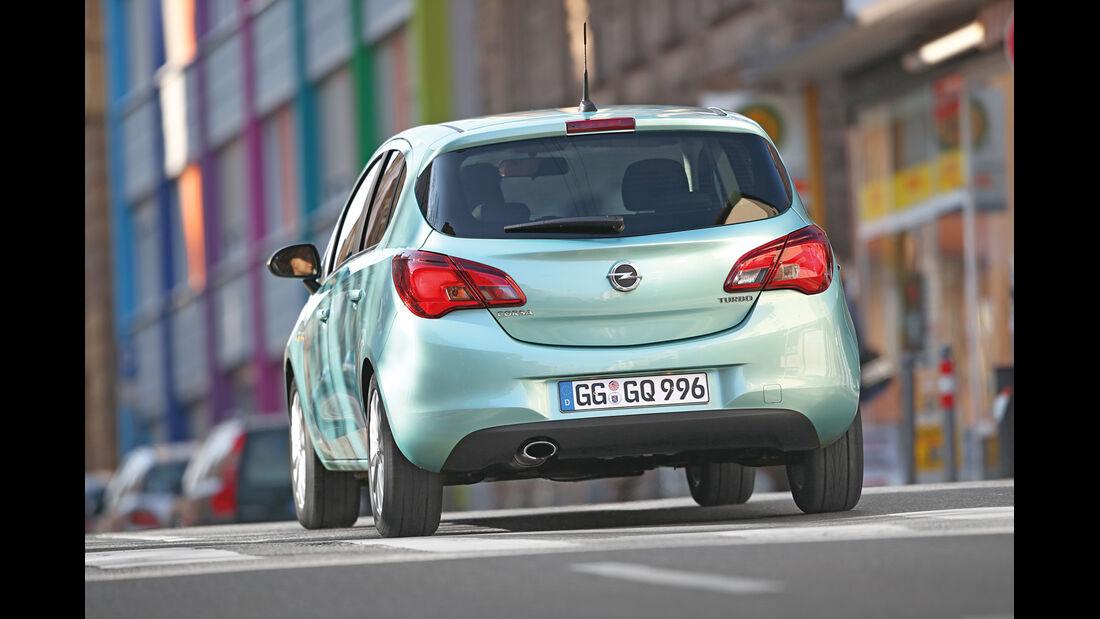 Opel Corsa 1.0 Turbo, Heckansicht