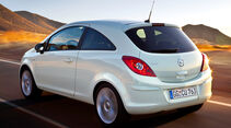 Opel Corsa 1.2, Heckansicht