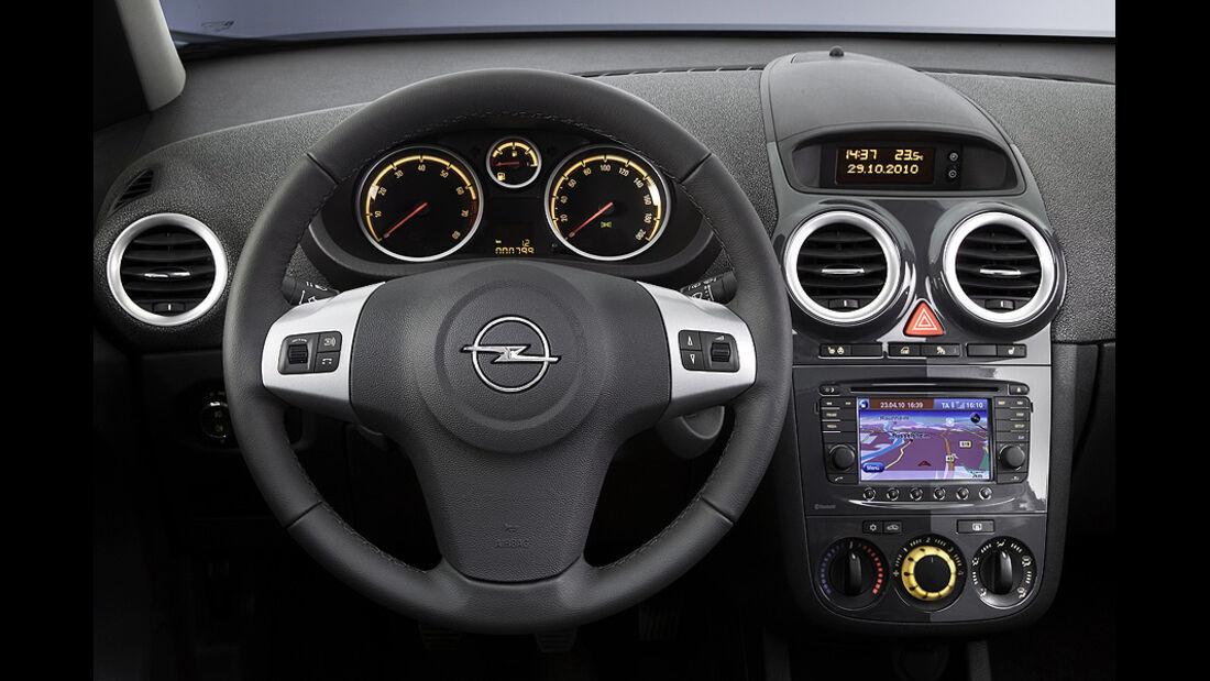 Opel Corsa Facelift 2011, Innenraum, Lenkrad