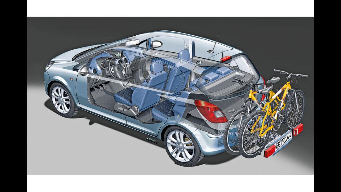Opel Corsa, Fahrradträger