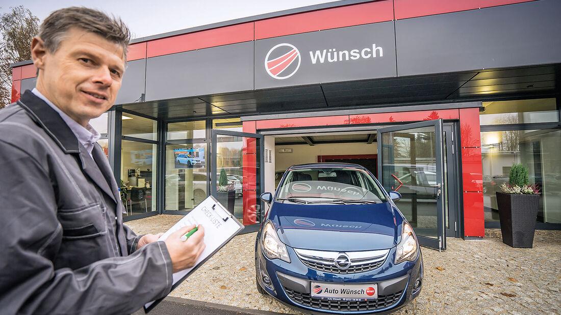 Opel Corsa, Frontal mit Meister Wünsch