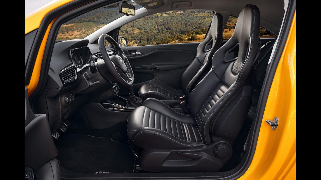 Opel Corsa Gsi, Innenraum, Sitze