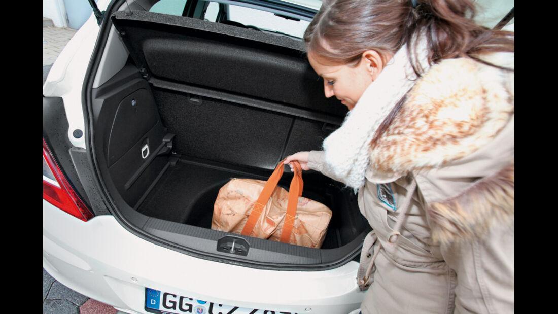 Opel Corsa, Kofferraum