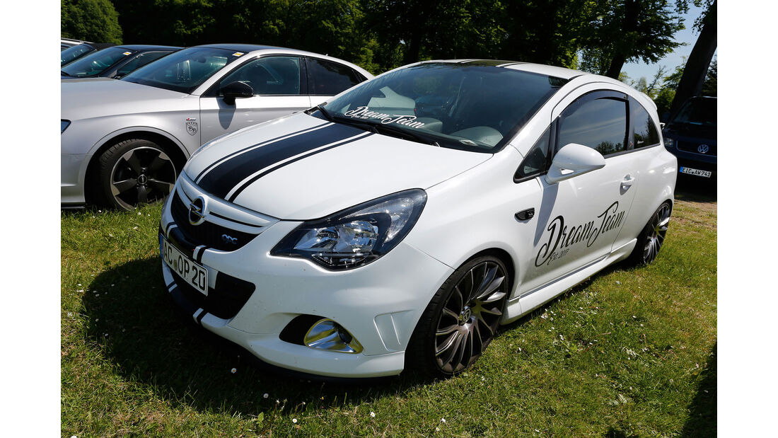 Opel Corsa OPC - Fan-Autos - 24h-Rennen Nürburgring 2017 - Nordschleife