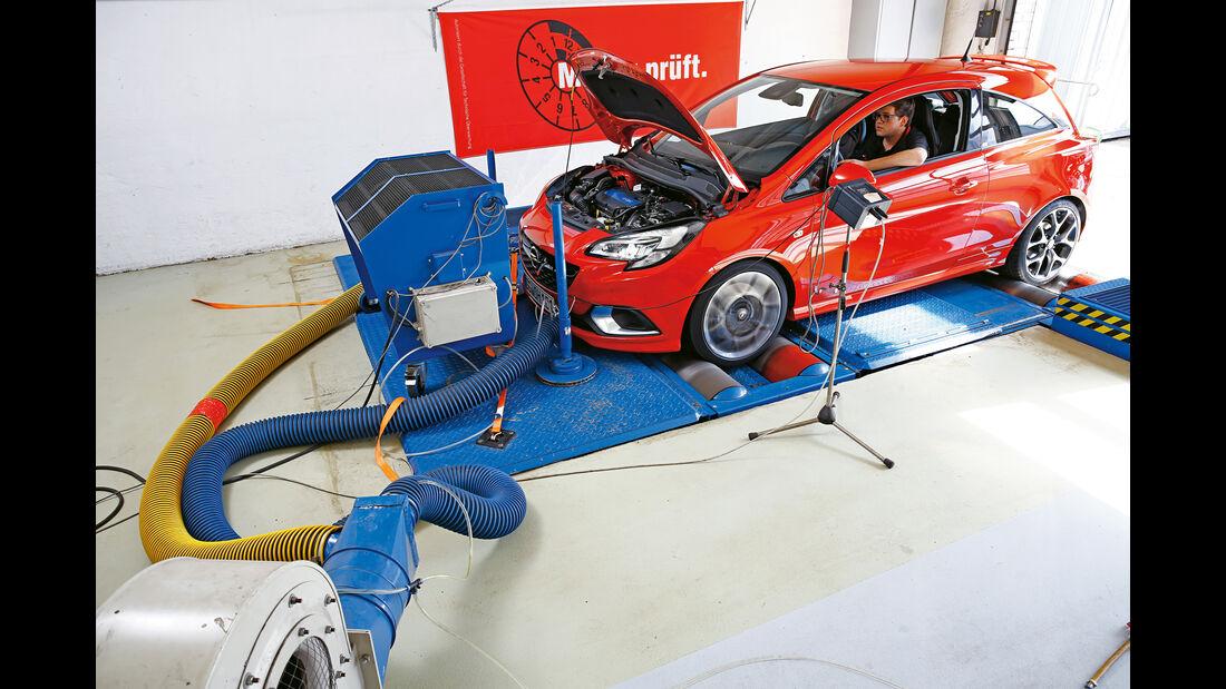 Opel Corsa OPC, Leistungsmessung, Prüfstand