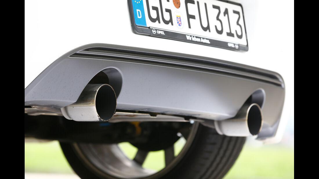 Opel Corsa OPC Nürburgring Edition, Endrohr, Auspuff