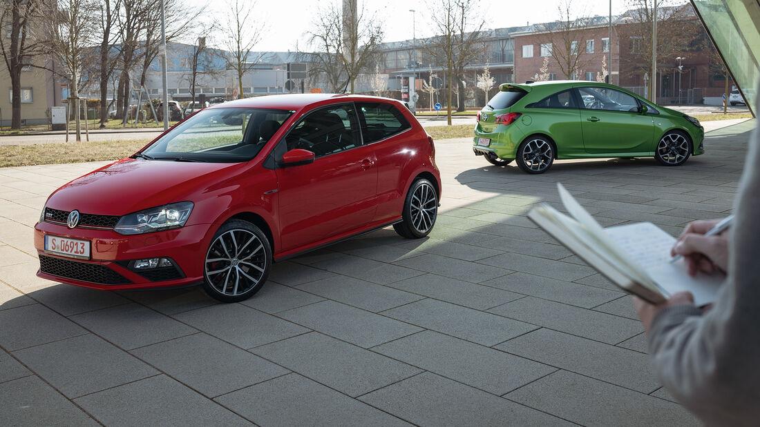Opel Corsa OPC, VW Polo GTI, Exterieur