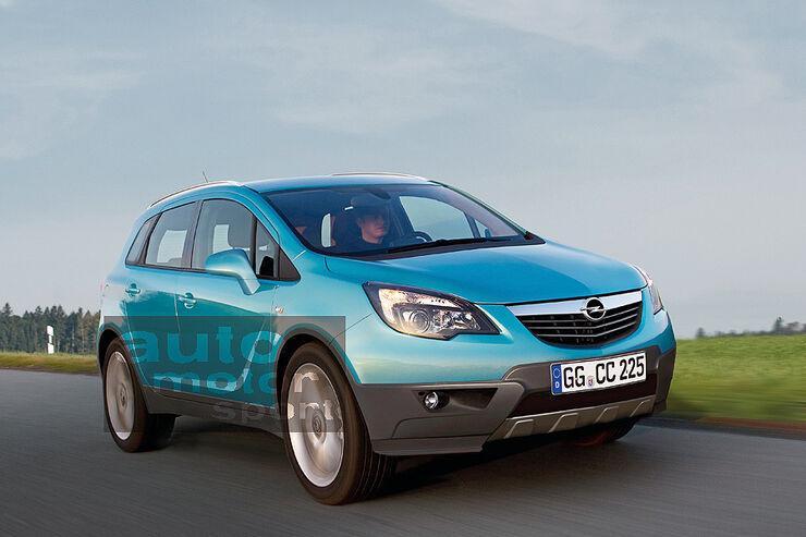 Opel Corsa SUV, Retusche