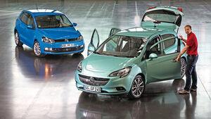 Opel Corsa, VW Polo, Frontansicht