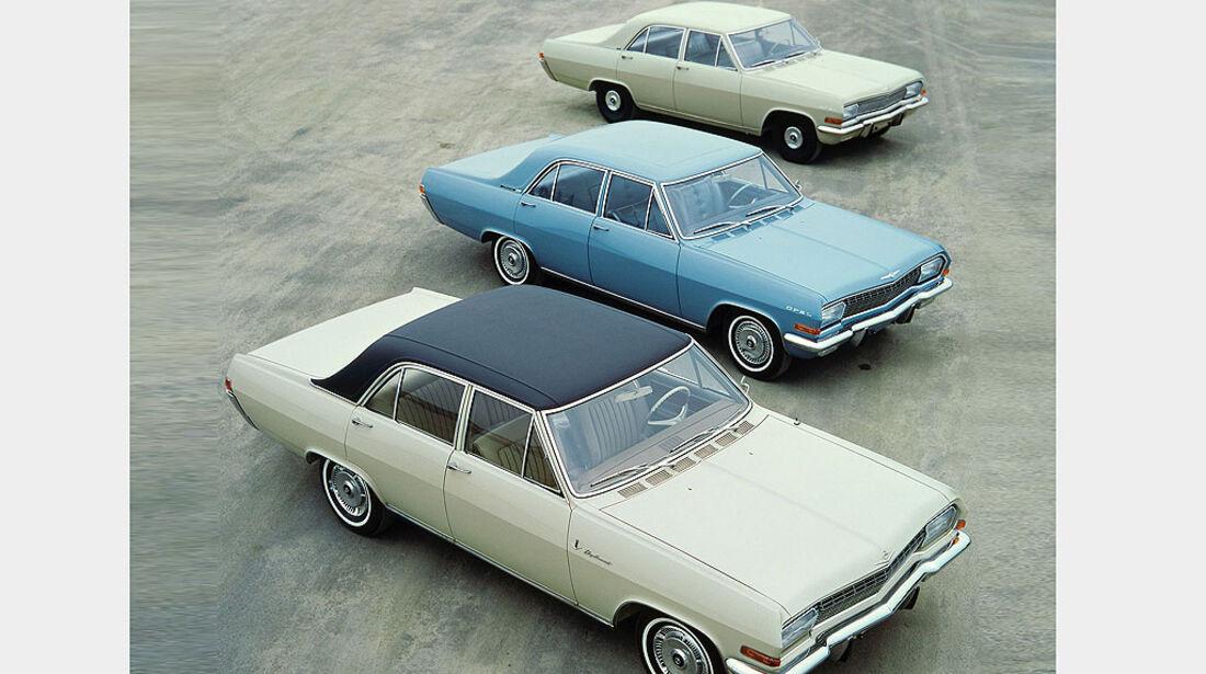 Opel Diplomat A V8, Opel Admiral A und Opel Kapitän A