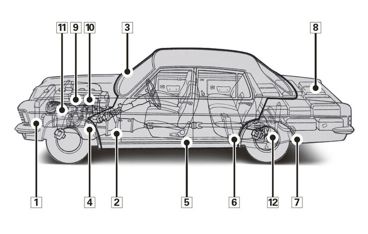 Opel Diplomat KAD-B, Schwachpunkte, Igelbild