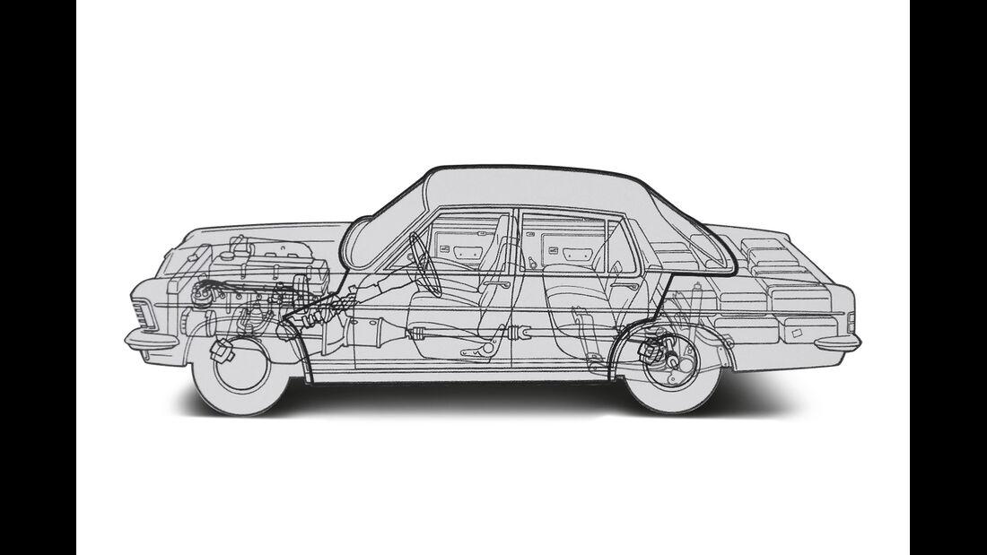 Opel Diplomat V8, Durchsicht