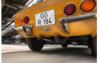 Opel GT 1900, Heck, Auspuff, Endrohre