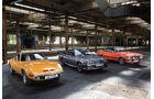 Opel GT 1900, Opel Manta GSi, Opel Commodore GS/E, Seitenansicht