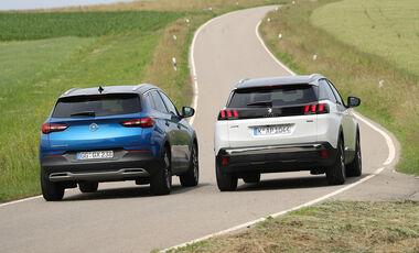 Opel Grandland X 1.2 DI Turbo, Peugeot 3008 Puretech 130, Exterieur