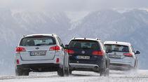 Opel Insignia Country Tourer 2.0 CDTI, Subaru Outback 2.0D, VW Passat Alltrack 2.0 TDI, Heck