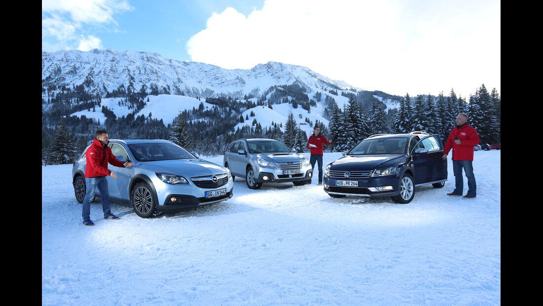 Opel Insignia Country Tourer 2.0 CDTI, Subaru Outback 2.0D, VW Passat Alltrack 2.0 TDI, Licht