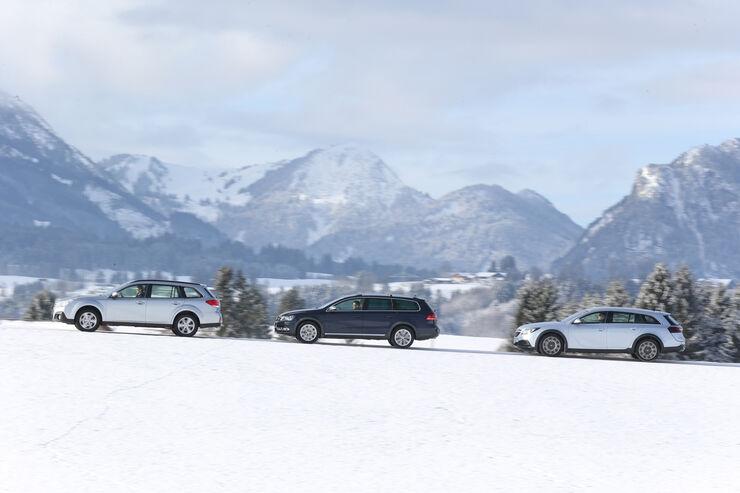 Opel Insignia Country Tourer 2.0 CDTI, Subaru Outback 2.0D, VW Passat Alltrack 2.0 TDI, Seite