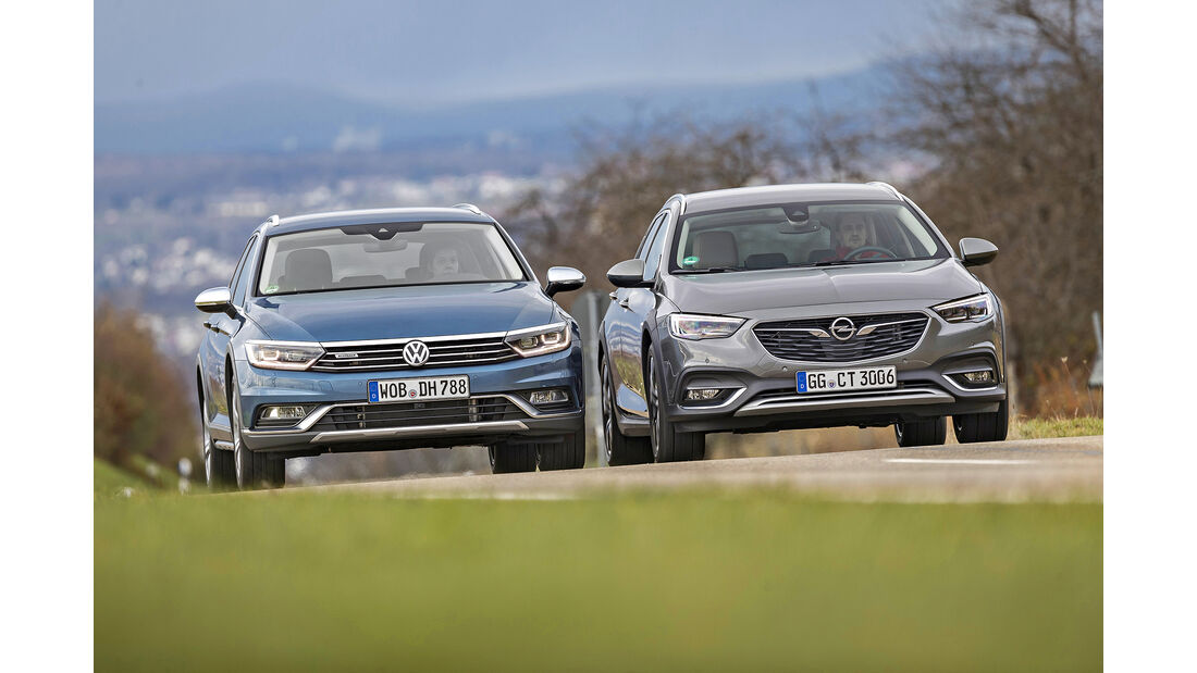 Opel Insignia Country Tourer 2.0 DI Turbo 4x4, VW Passat Alltrack 2.0 TSI 4Motion, Exterieur