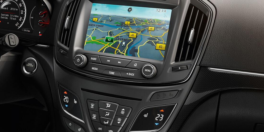 Opel Insignia Facelift, IAA 2013, Mittelkonsole