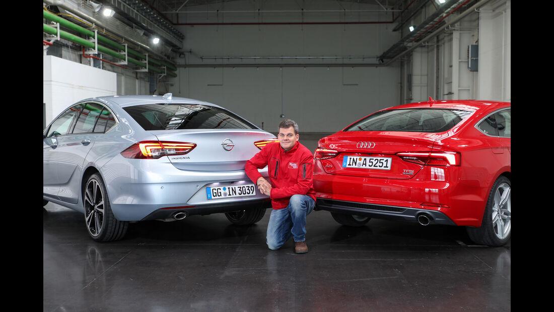 Opel Insignia Grand Sport, Audi A5 Sportback, Gerd Stegmaier