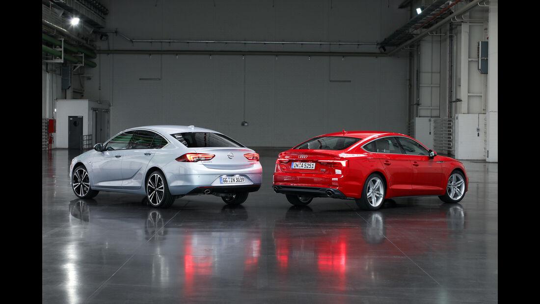 Opel Insignia Grand Sport, Audi A5 Sportback, Heckansicht