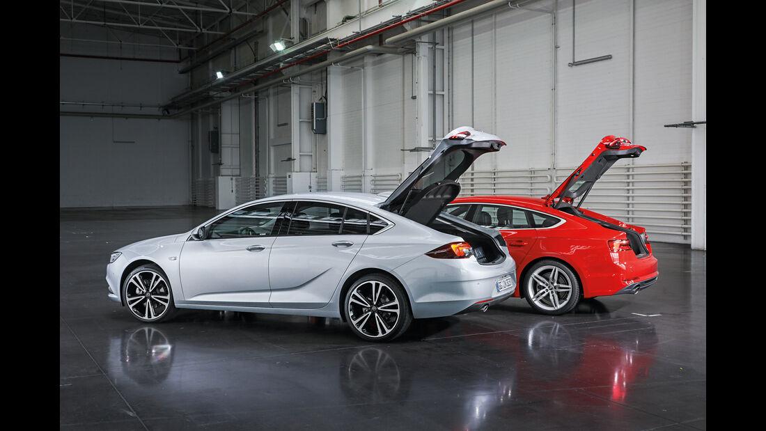 Opel Insignia Grand Sport, Audi A5 Sportback, Kofferraumdeckel