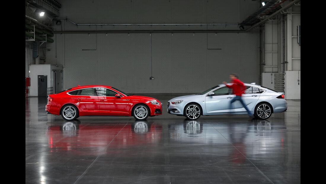 Opel Insignia Grand Sport, Audi A5 Sportback, Seitenansicht