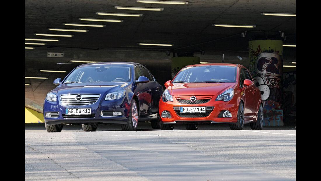 Opel Insignia, Opel Corsa, Frontansicht