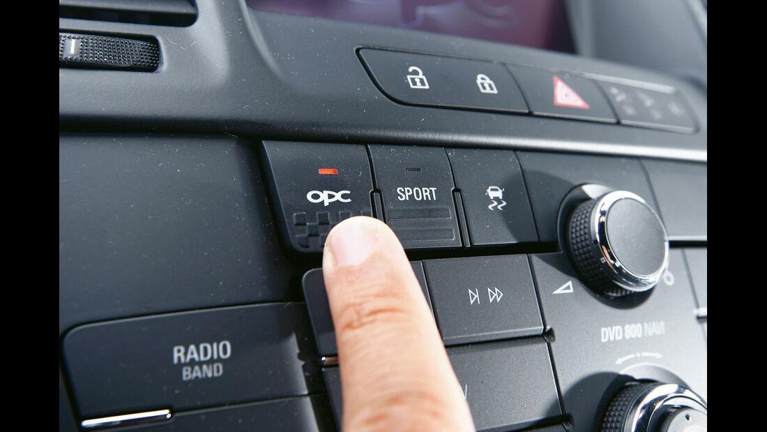 Opel Insignia Sports Tourer OPC, Fahrwerkeinstellung