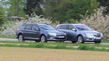 Opel Insignia Sports Tourer und Citroen C5 Tourer
