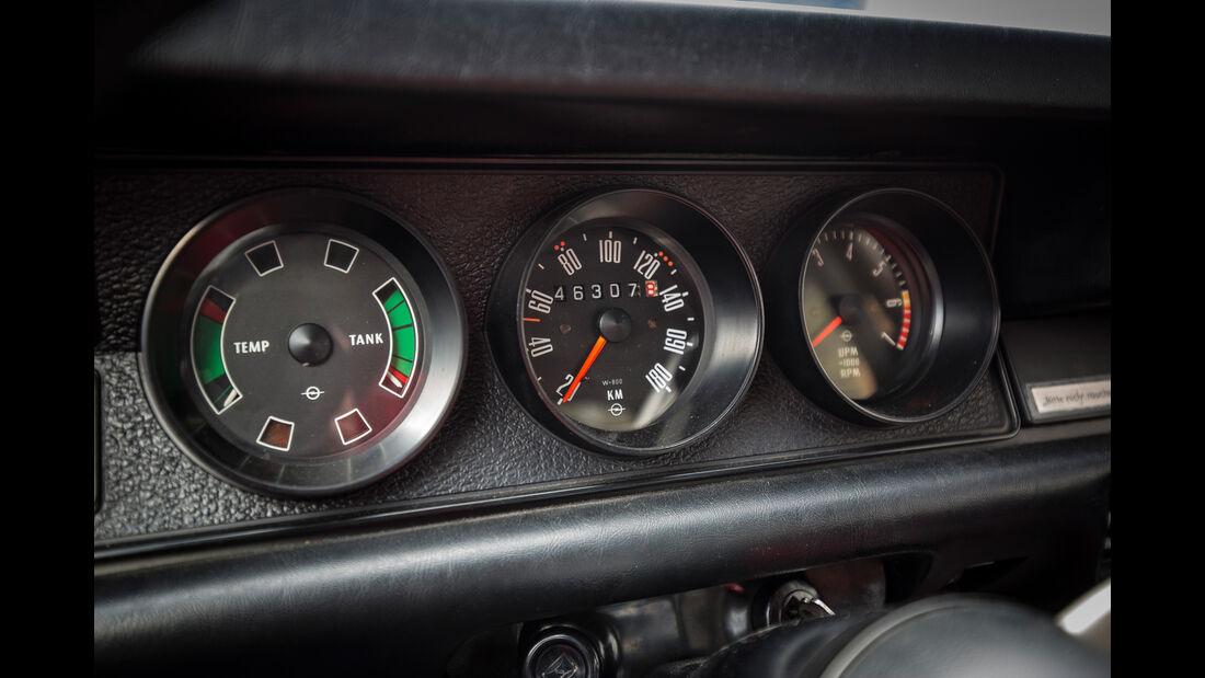 Opel Kadett B Coupé Rallye, Anzeigeinstrumente