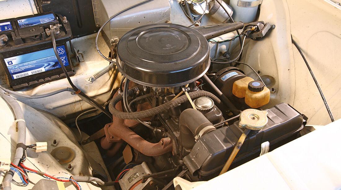 Opel Kadett B, Motorraum