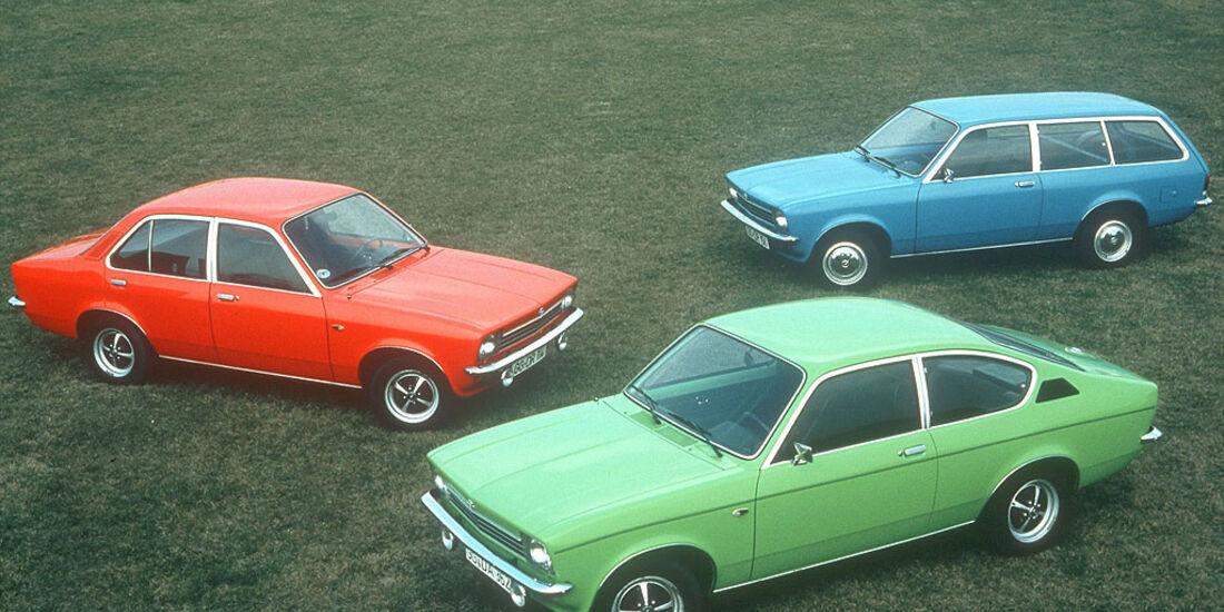 Opel Kadett C, Limousine, Caravan und Coupé, 1973-1979