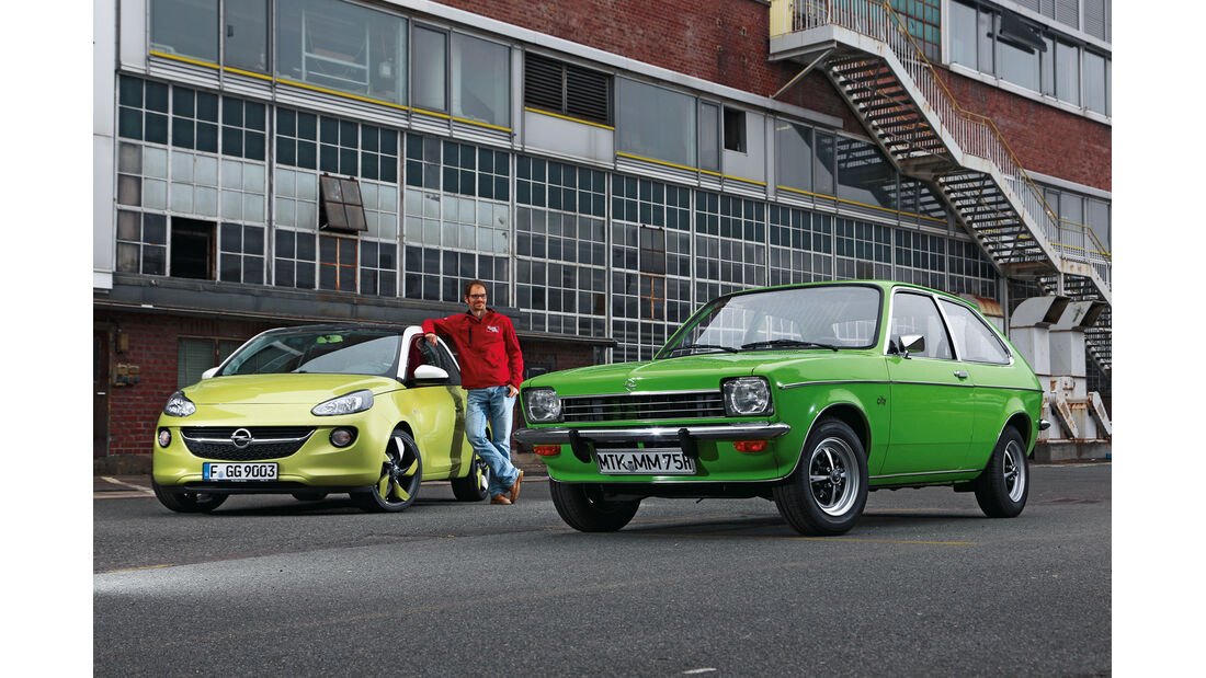 Opel Kadett City 1200, Opel Adam 1.4 Jam, Frontansicht