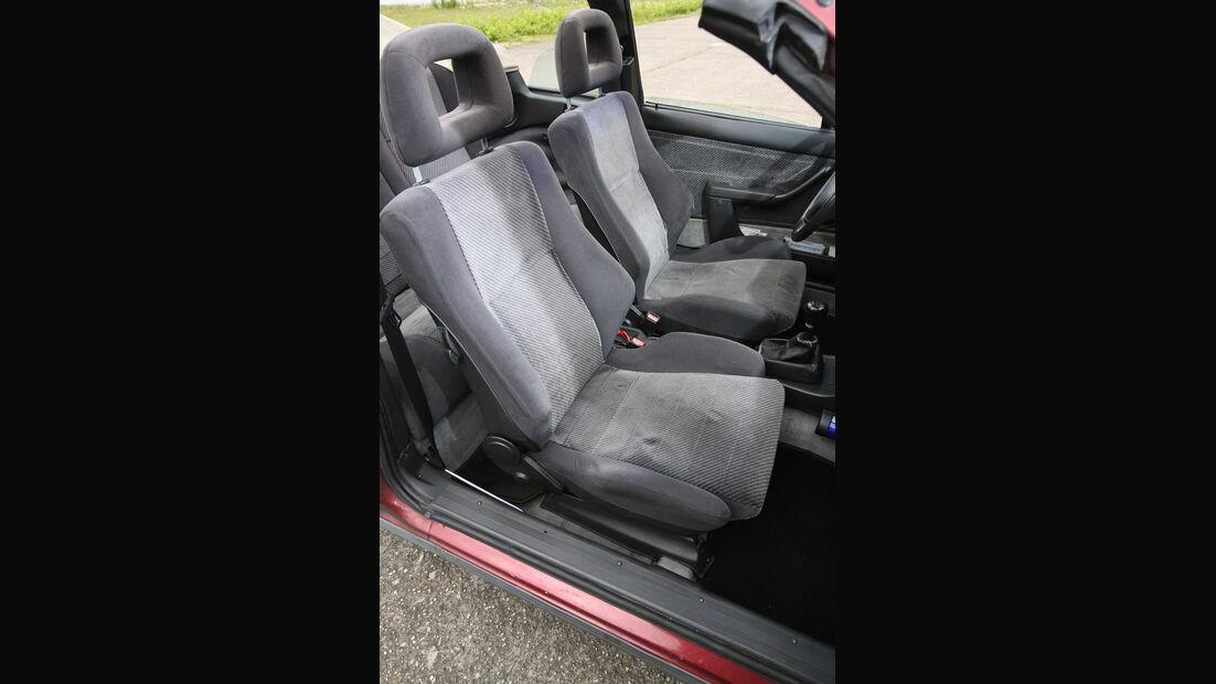 Opel Kadett E 2.0 GSi Cabriolet, Fahrersitz