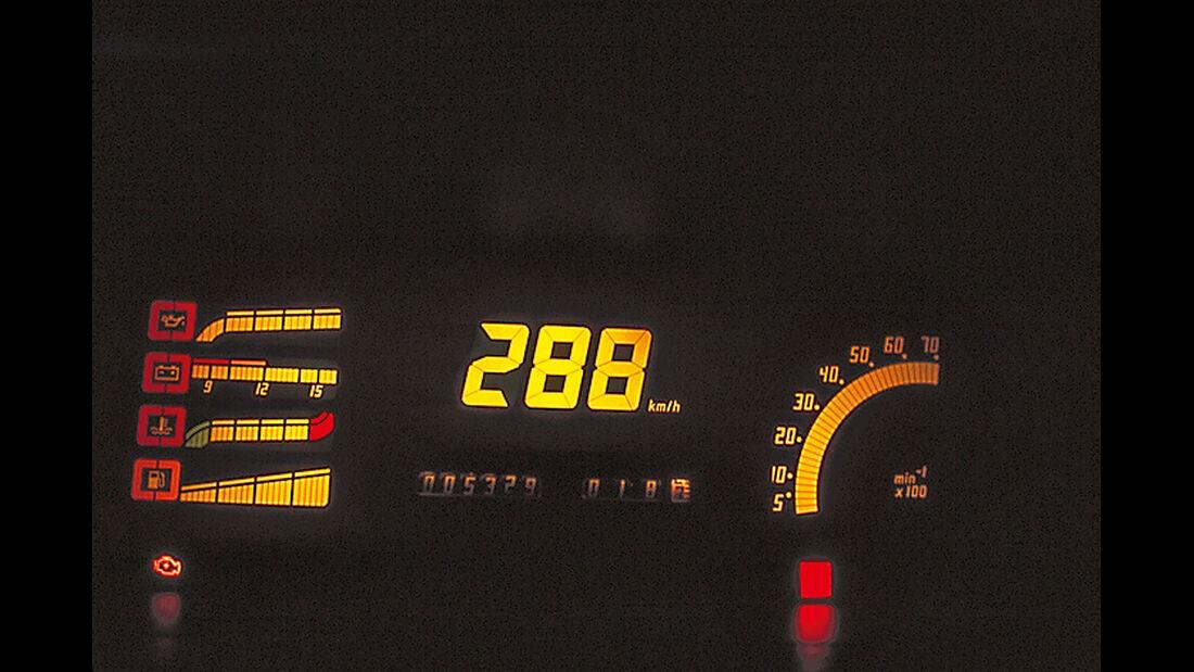 Opel Kadett GSi 16V, Anzeigeinstrumente