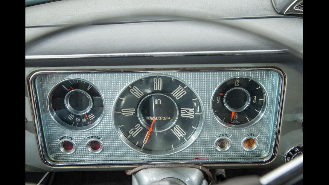 Opel Kapitän, Modell 1956, Rundinstrumente