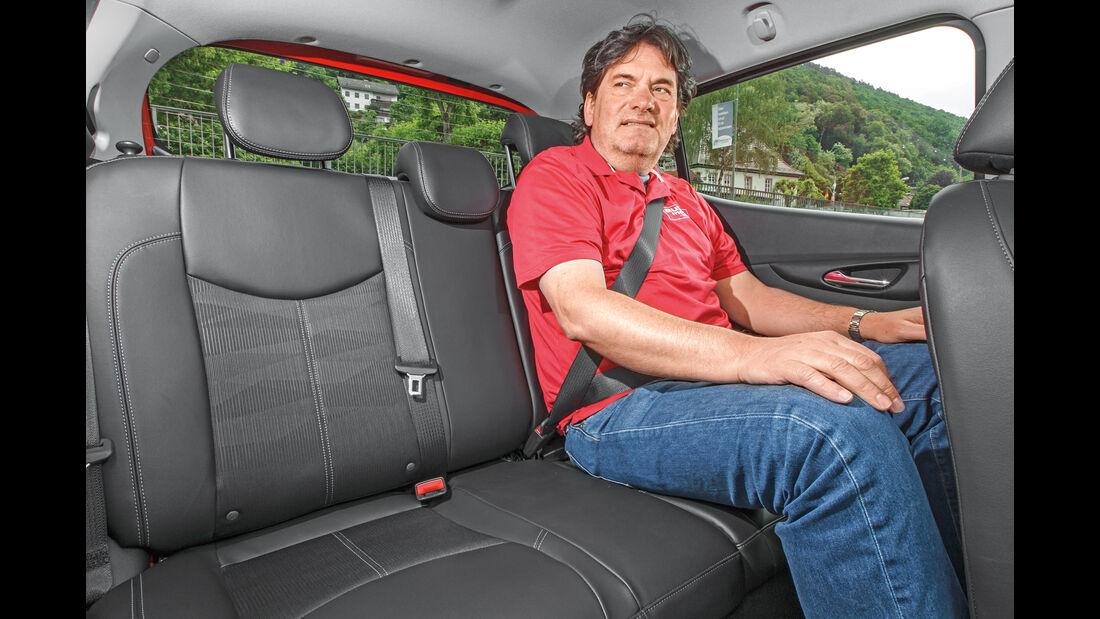 Opel Karl 2015, Fond