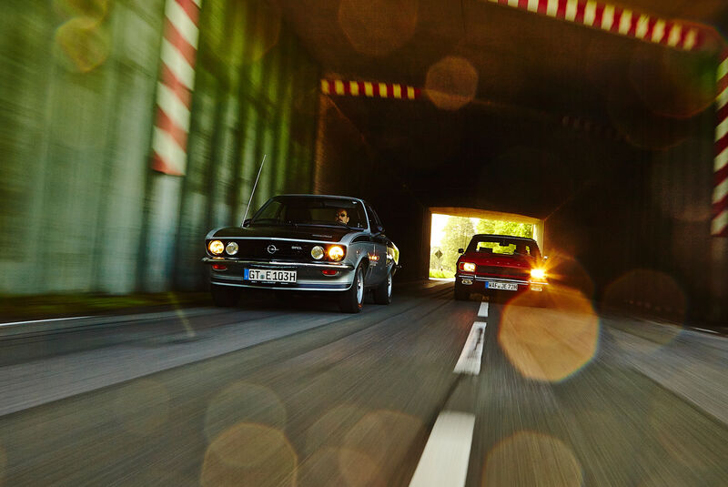 Opel Manta A, Ford Capri Serie 1, Frontansicht